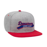 Democracy Comes Alive Embroidered Snap Back Red