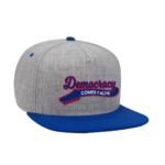 Democracy Comes Alive Embroidered Snap Back Royal